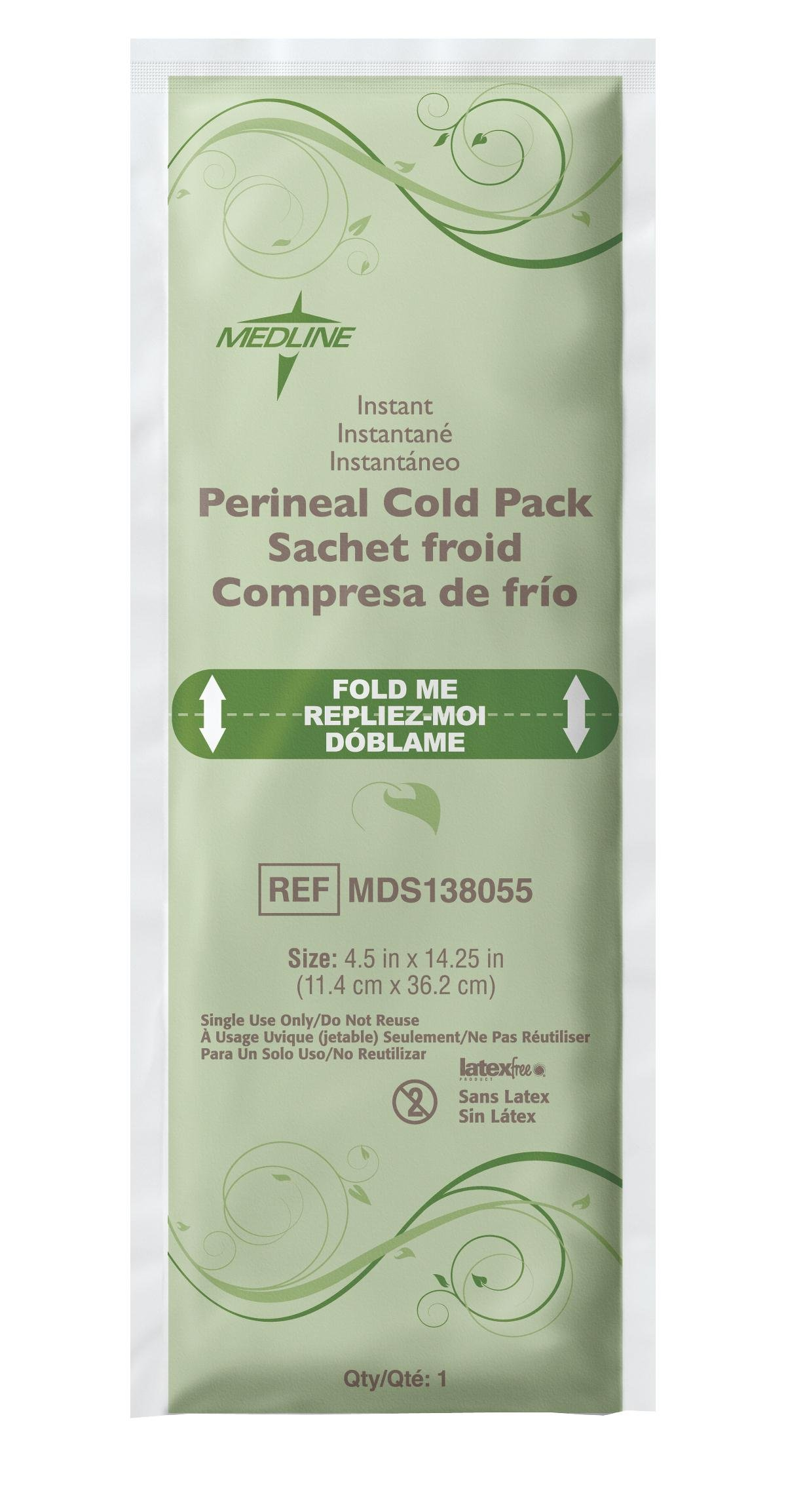 Medline MDS138055 Standard Perineal Cold Packs, 4.5'' x 14.25'', Pack of 24