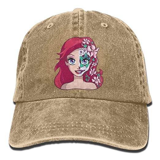Amazon.com  Sugar Skull Series Ariel Adult Cowboy Hat Baseball Cap ... b7cc6467d446