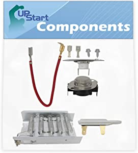 279838, 279816 & 3392519 Dryer Heating Element and Thermostat Combo Pack Replacement for Whirlpool SEDX600JQ1 - Compatible with 279838, 279816 & 3392519 Heater Element, Thermal Cutoff & Fuse Kit