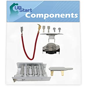 279838, 279816 & 3392519 Dryer Heating Element and Thermostat Combo Pack Replacement for Estate TEDS740JQ1 Dryer - Compatible with 279838, 279816 & 3392519 Heater Element, Thermal Cutoff & Fuse Kit
