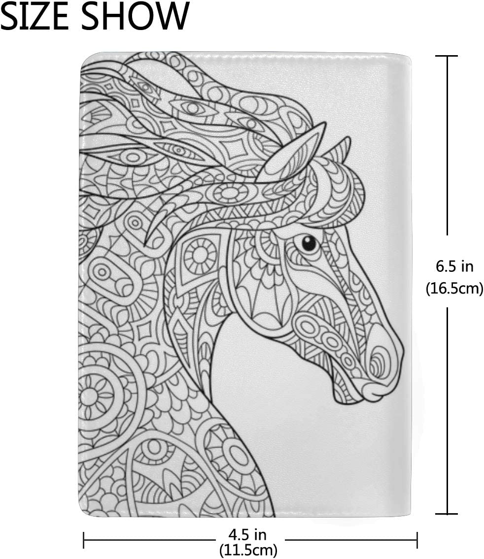 Horses Gallop Across The Grassland Blocking Print Passport Holder Cover Case Travel Luggage Passport Wallet Card Holder Made With Leather For Men Women Kids Family