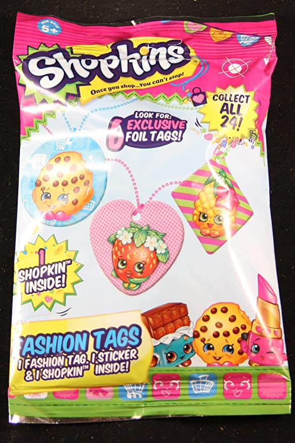 Shopkins Season 1 Fashion Tag Mystery Pack Toy Set [Styles And ...