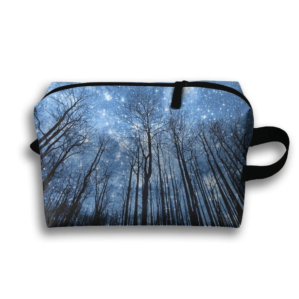 Travel Gadget Organizer Portable Toiletry Bag Cosmetic Pouch Medicines Storage Holder Forest High Capacity 50