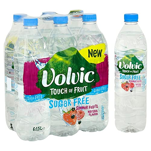 Volvic Touch of Fruit Sugar Free Summer Fruits Flavoured Water, 6 x 1.5 L