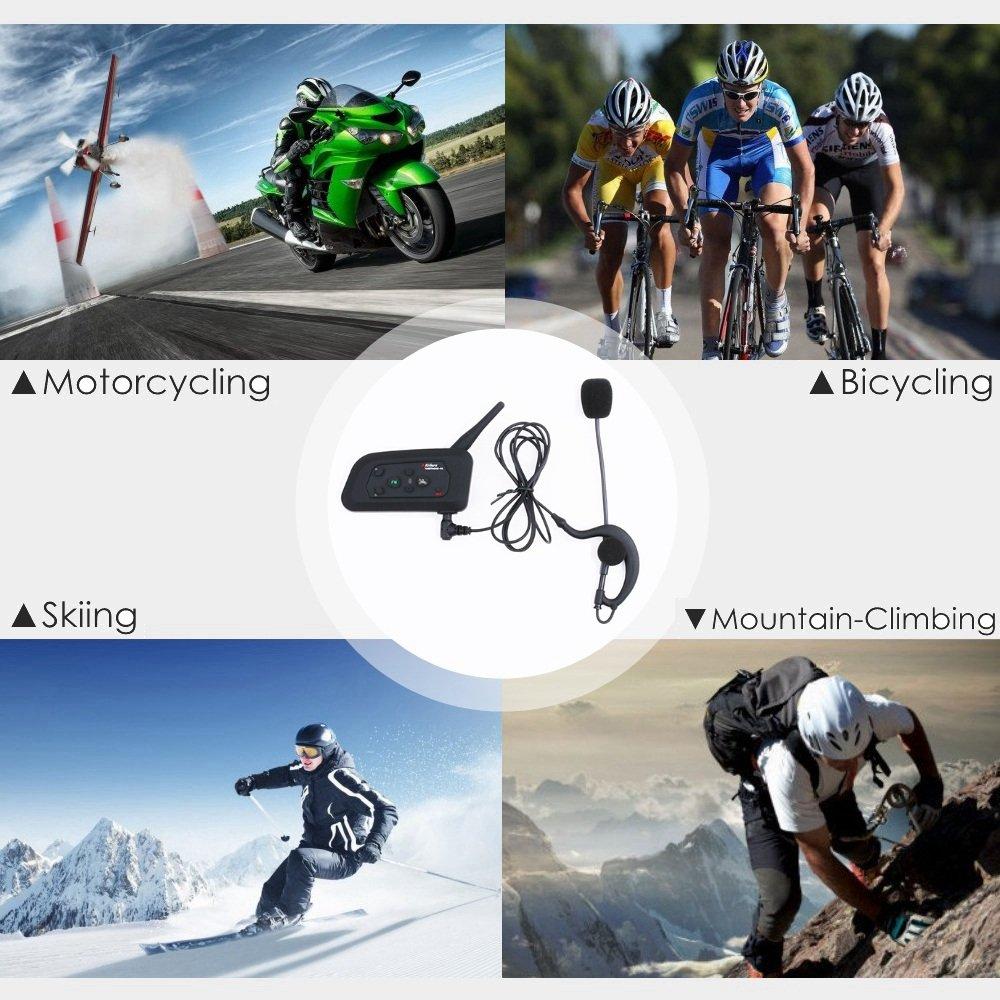 Bluetooth Intercom ★ Communication Multidirectionnelle ★ 2-Pack V4C Support 4 Utilisateur au Maximun pour Moto Conducteur Garde de S/écurit/é etc. Derni/ère Version