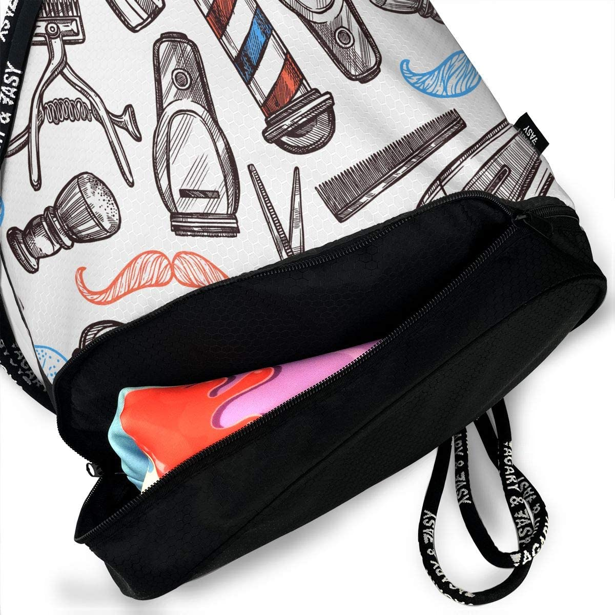 Drawstring Backpack Barbershop Equipment Gym Bag