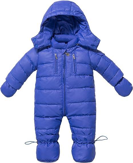 Niñas Chicos Ropa para nieve Acolchados Mitones Bebe De Esquí Traje de bebé niño 6 a 18 meses