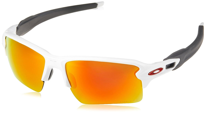 Oakley Flak 2.0 918893 59, Gafas de Sol para Hombre, Blanco (Polished White/Ruby)