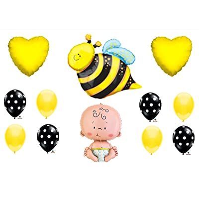 What Will It BEE Baby Shower Gender Reveal Party Balloons Decorations Supplies: Toys & Games