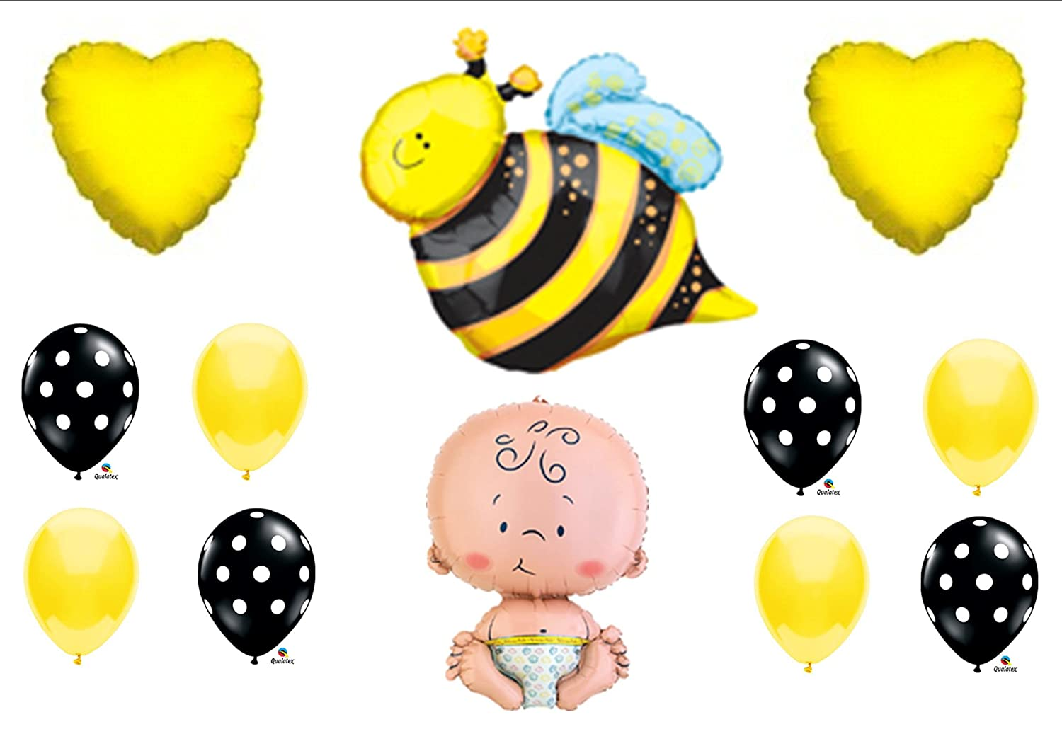 Amazon What Will It BEE Baby Shower Gender Reveal Party Balloons Decorations Supplies Toys Games