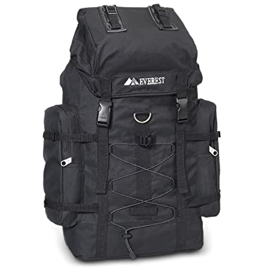 Amazon.com: Everest 24-inch Polyester Hiking Backpack in Black ...