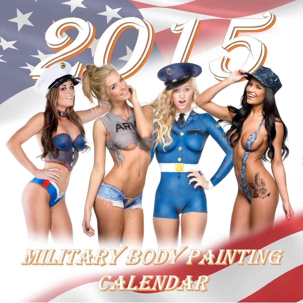 2015 Military Body Painting Calendar Engelart 9780985145736 Amazon Com Books