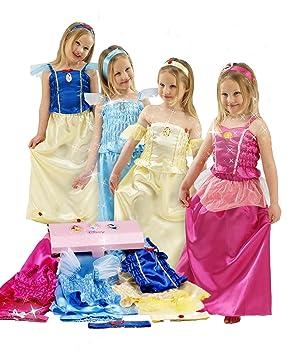 628b5a733c5987 Disney - 0060414 - Costume - Coffret de 4 Déguisements Princesses - Blanche  Neige   Aurore