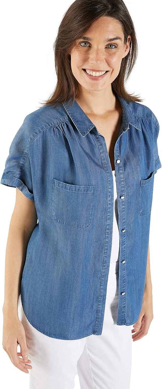 Balsamik - Camisa fluida para Mujer: Amazon.es: Ropa y accesorios
