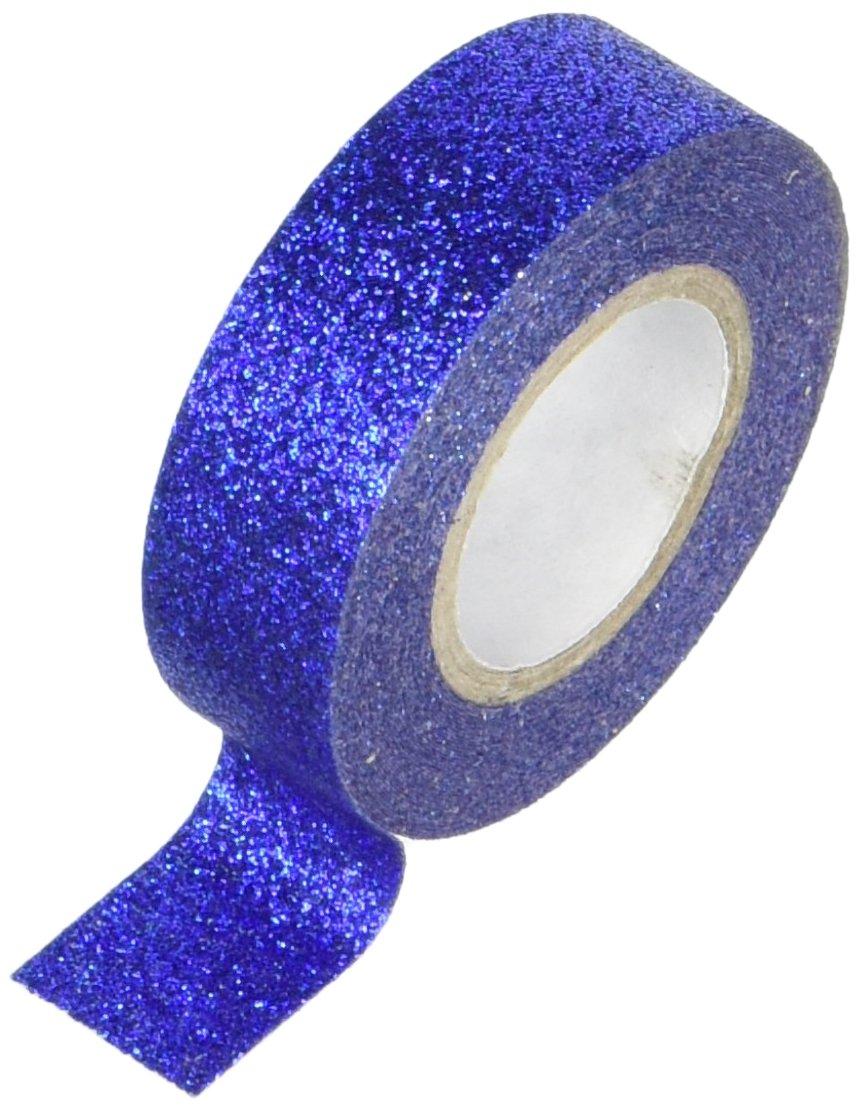 Cinta Adhesiva Glitter Azul 15mm - 5m