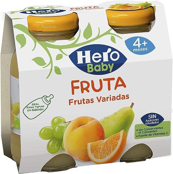 Hero Baby Zumo de Frutas Variadas Sin Conservantes para Bebés a partir de 4 Meses Pack de 2 x 130 ml: Amazon.es: Alimentación y bebidas