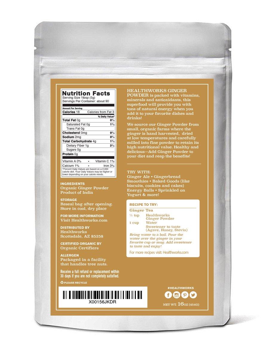 Healthworks Ginger Powder Raw Organic, 1lb by Healthworks (Image #3)