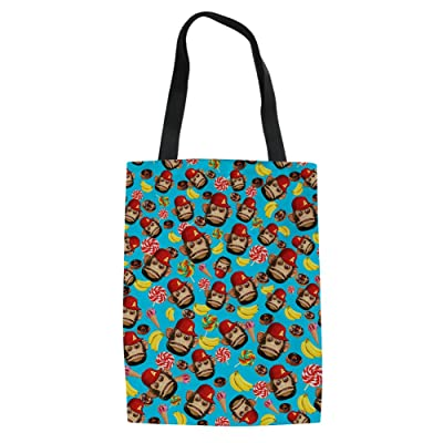 CHAQLIN Monkey Pattern Tote Bag Shoulder Bag for Gym Hiking Picnic Travel Beach