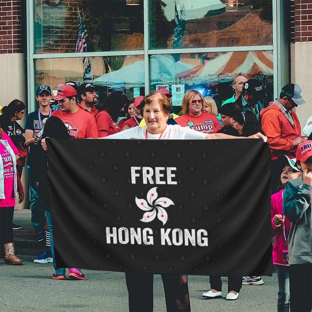 5in Banner Flags Emonye Support Free Hong Kong Democracy Protest Flag,3