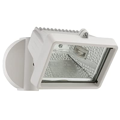 Lithonia Lighting OFLM 150Q 120 LP WH M12 A Mini Single-Head Flood Light 150-Watt Double Ended Quartz Halogen Lamp - Outdoor Flood Light Fixtures - .com