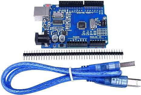 Amazon.com: quimat Arduino UNO R3 ATmega328P CH340 placa de ...