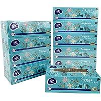 Vinda Supreme Facial Tissue, Ultra Soft, 2 Ply, 100 Sheets per Box, 10 Boxes Packaging