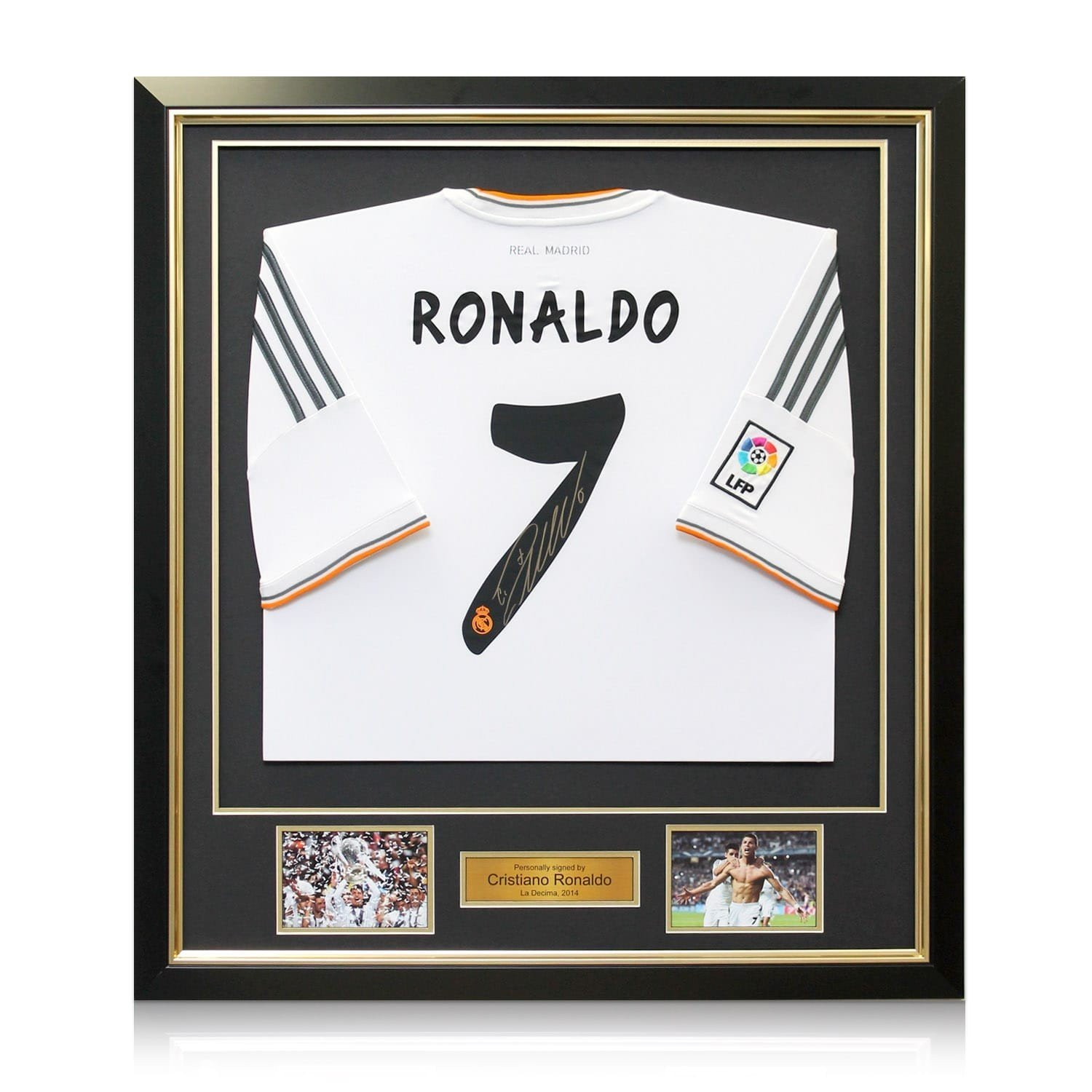 Framed Cristiano Ronaldo Signed Real Madrid Soccer Jersey at Amazon s  Sports Collectibles Store 38cf95029