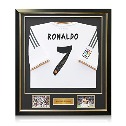 fbdc6da54ed Image Unavailable. Image not available for. Color  Framed Cristiano Ronaldo  Signed Real Madrid Soccer Jersey