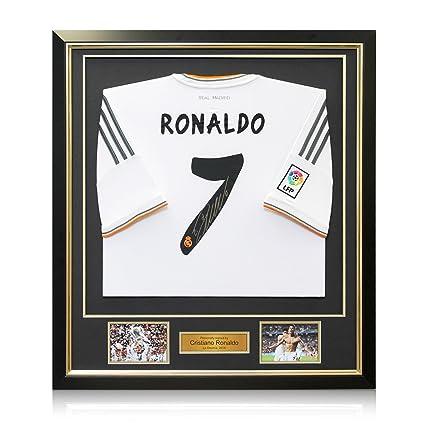 exclusivememorabilia.com Enmarcado Cristiano Ronaldo Firmado Real Madrid Camiseta de fútbol