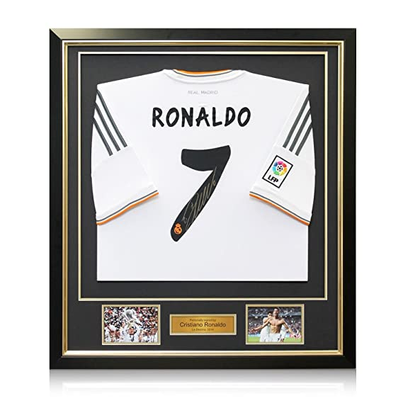 Framed Cristiano Ronaldo Signed Real Madrid Soccer Jersey at Amazons Sports Collectibles Store