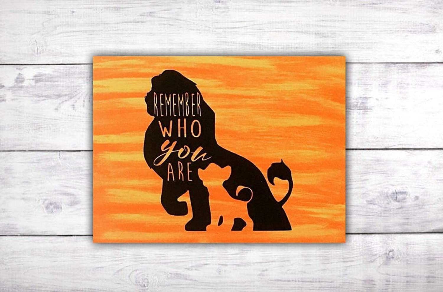 Amazoncom Remember Who You Are Wood Sign The Lion King