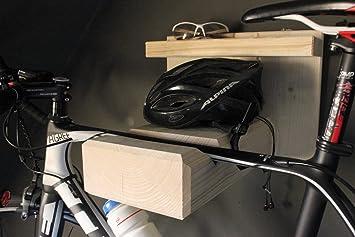 Homeclassics - Soporte de pared de madera para bicicletas de ...