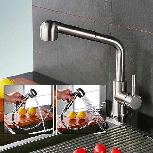 Homelody Wasserhahn mit herausziehbarem /Ausziehbar Brause ...