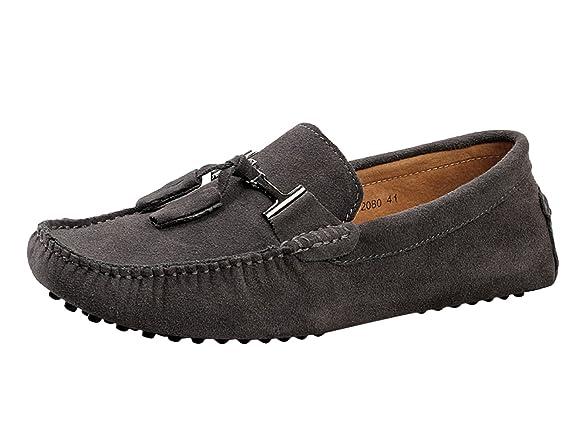 2019 nouveau hommes chaussures grande taille chaussures de conduite décontractée en cuir confortable hommes mocassins noir gris sans lacet chaussures hommes