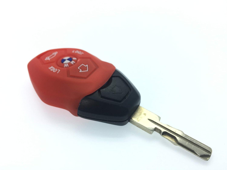 Nordecco Coque de Protection en Silicone pour cl/é /à Distance 3//4 Boutons Compatible avec BMW S/érie 3 E35 E46 E90 E39 38 36 E91 E60 65 66 67 E61 E53 3 5 6 mod/èles M Sport 3 M3 M5 X5 X6 Z3 Z4