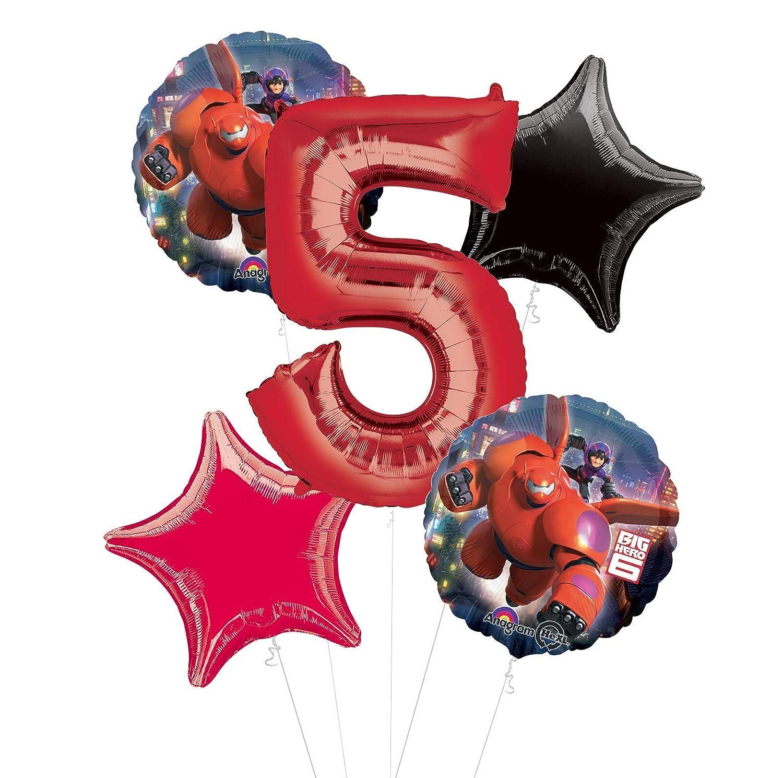 Mayflower Products ビッグヒーロー 6 パーティー用品 5歳の誕生日 バルーン ブーケ デコレーション   B07PM8ZWKJ