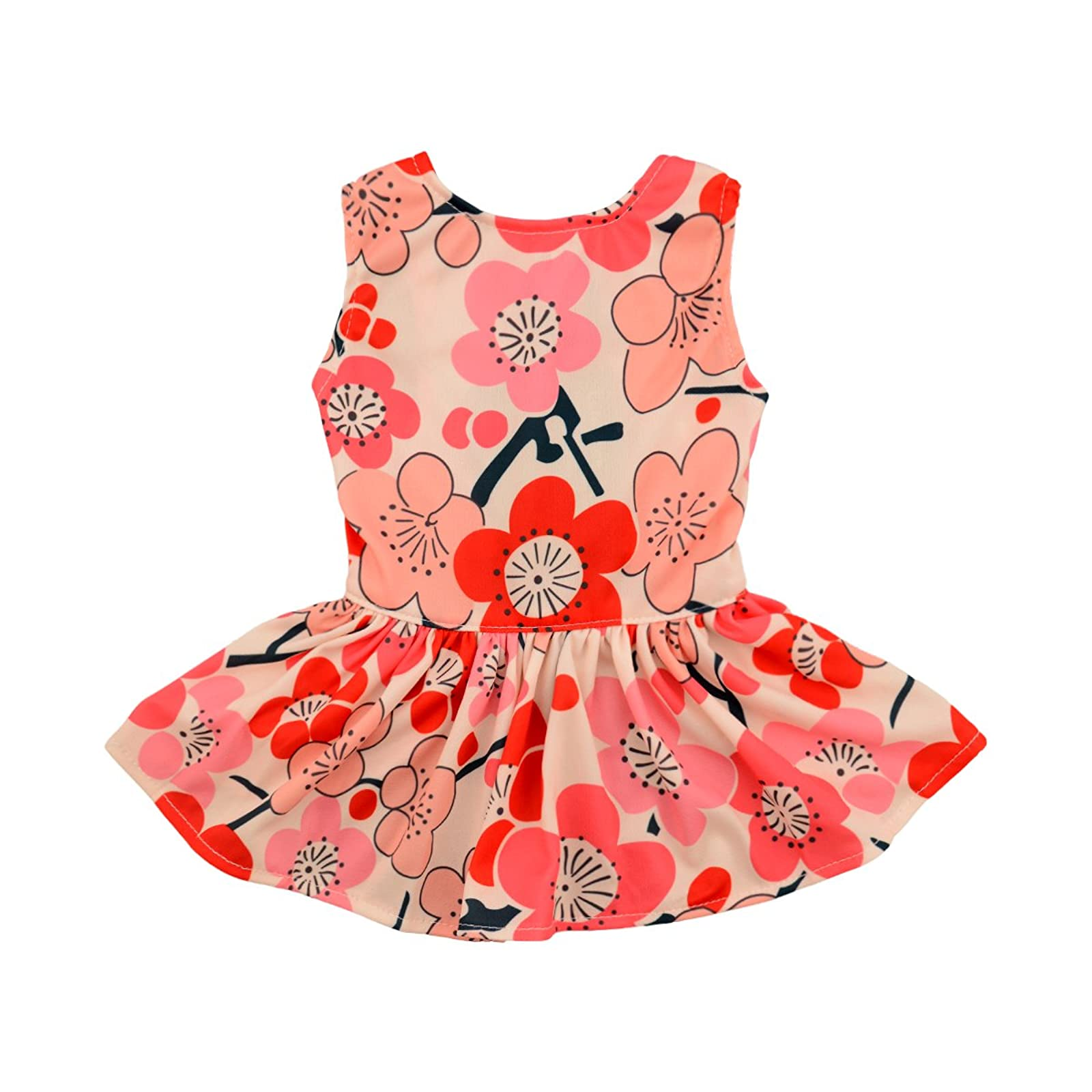 CuteBone Dog Dress Dog Dresses For Small Red M - 1