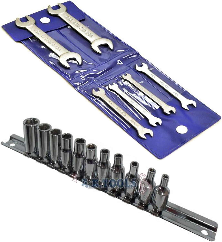 Elora Midget BA Combination Spanner Set in Storage Wallet Garage Tools 4 Piece