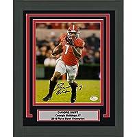 $149 » Framed Autographed/Signed D'Andre Swift Georgia Bulldogs 8x10 College Football Photo JSA COA #5