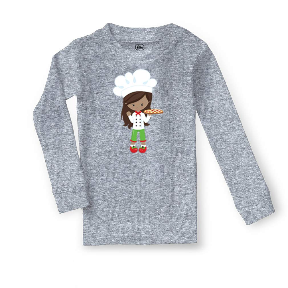 Pizza Chef Girl B Cotton Crewneck Boys-Girls Sleepwear Pajama 2 Pcs Set