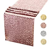 Sequin Table Runners ROSE GOLD- 12 X 108 Inch