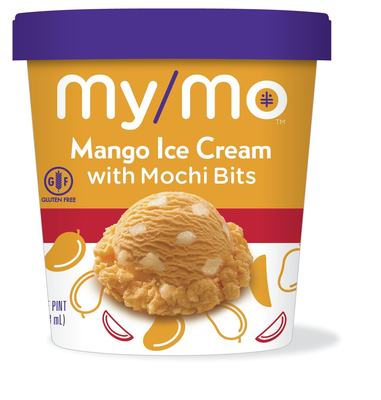 My/Mo Mango Ice Cream with Mochi Bits (8 pints) by My/Mo Mochi Ice Cream