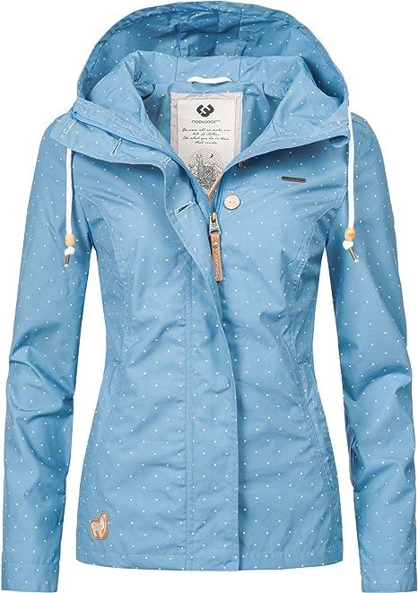 ragwear lynx dots jacke für damen blau