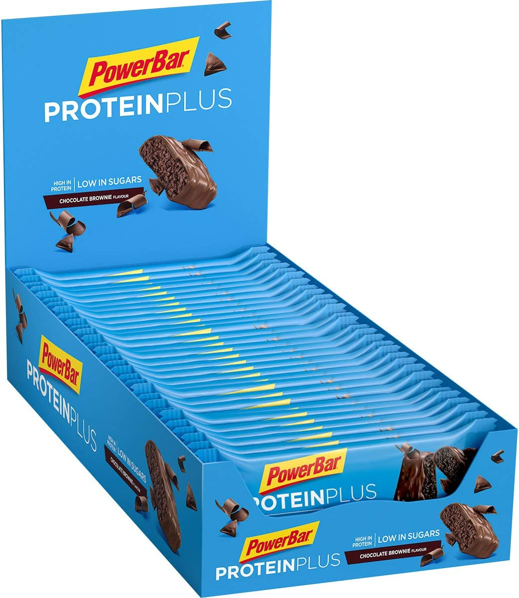 Powerbar Protein Plus Low Sugar Chocolate Brownie - Barritas Proteinas con Bajo Nivel de Azucar - 30 Barras 1005 g