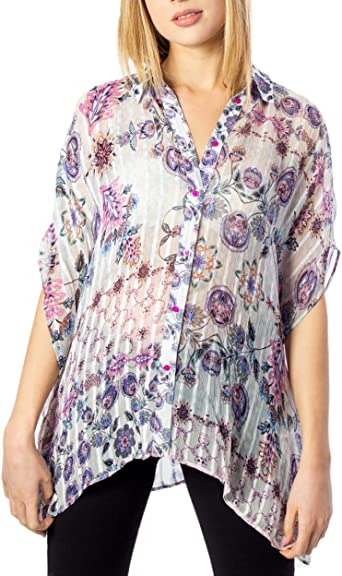 Desigual - Camisa de manga corta para mujer, modelo Modena 20swcw01: Amazon.es: Ropa y accesorios