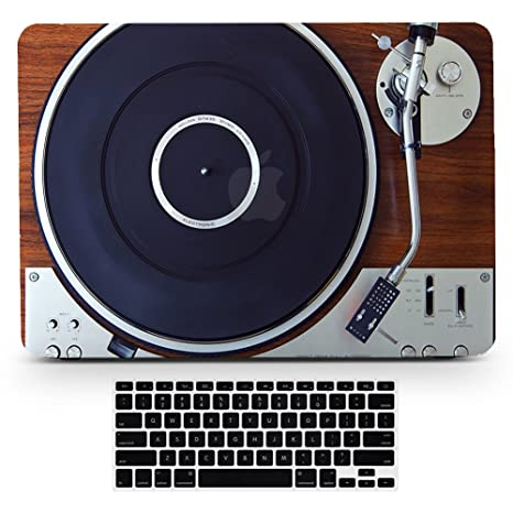 Bizcustom MacBook Pro13 Vintage Wood Music Player Design Paint Hard  Rubberized Case and Black Keyboard Cover for MacBook Pro 13 CD-ROM Model  A1278,