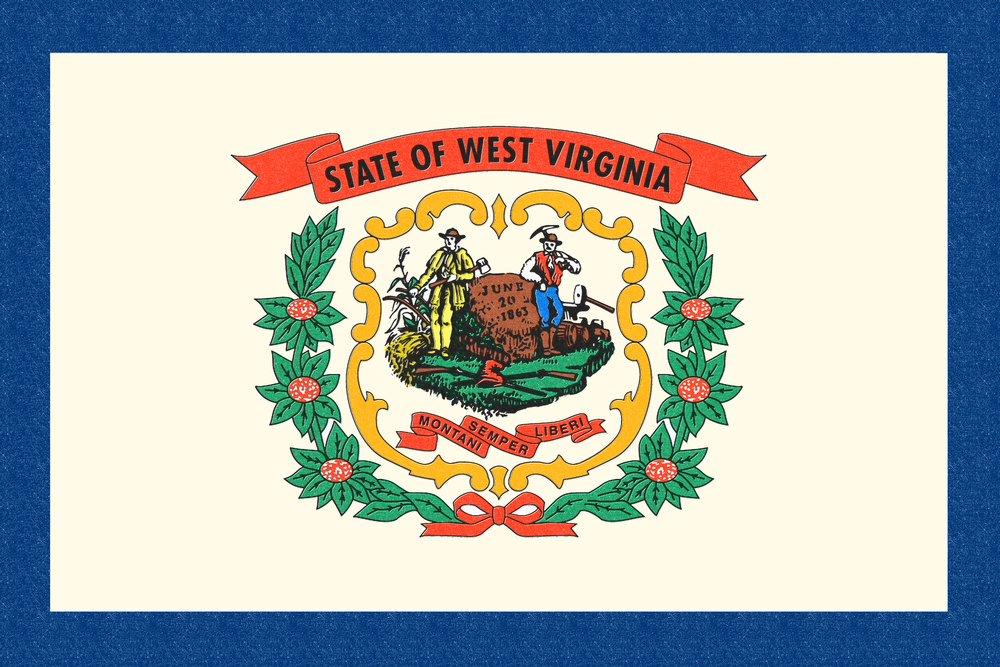West Virginia State Flag – 活版 36 x 54 Giclee Print LANT-51138-36x54 36 x 54 Giclee Print  B017E9YC62