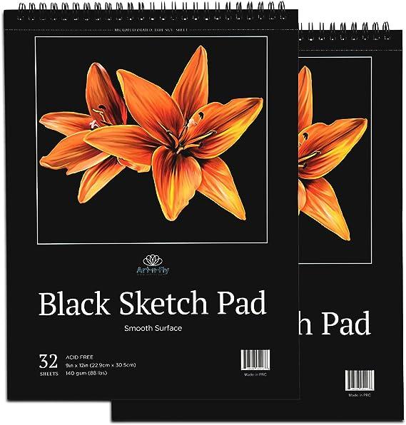 Clairefontaine 975043C CarbON bloc /à spirale A4 20 feuilles 210 x 297 mm 120 g en papier de couleur Noir