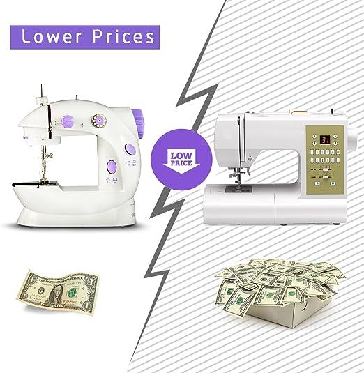Máquina de coser eléctrica de tamaño mini para el hogar. Ligera. Ideal para niños. Con pedal de pie y luz: Amazon.es: Hogar