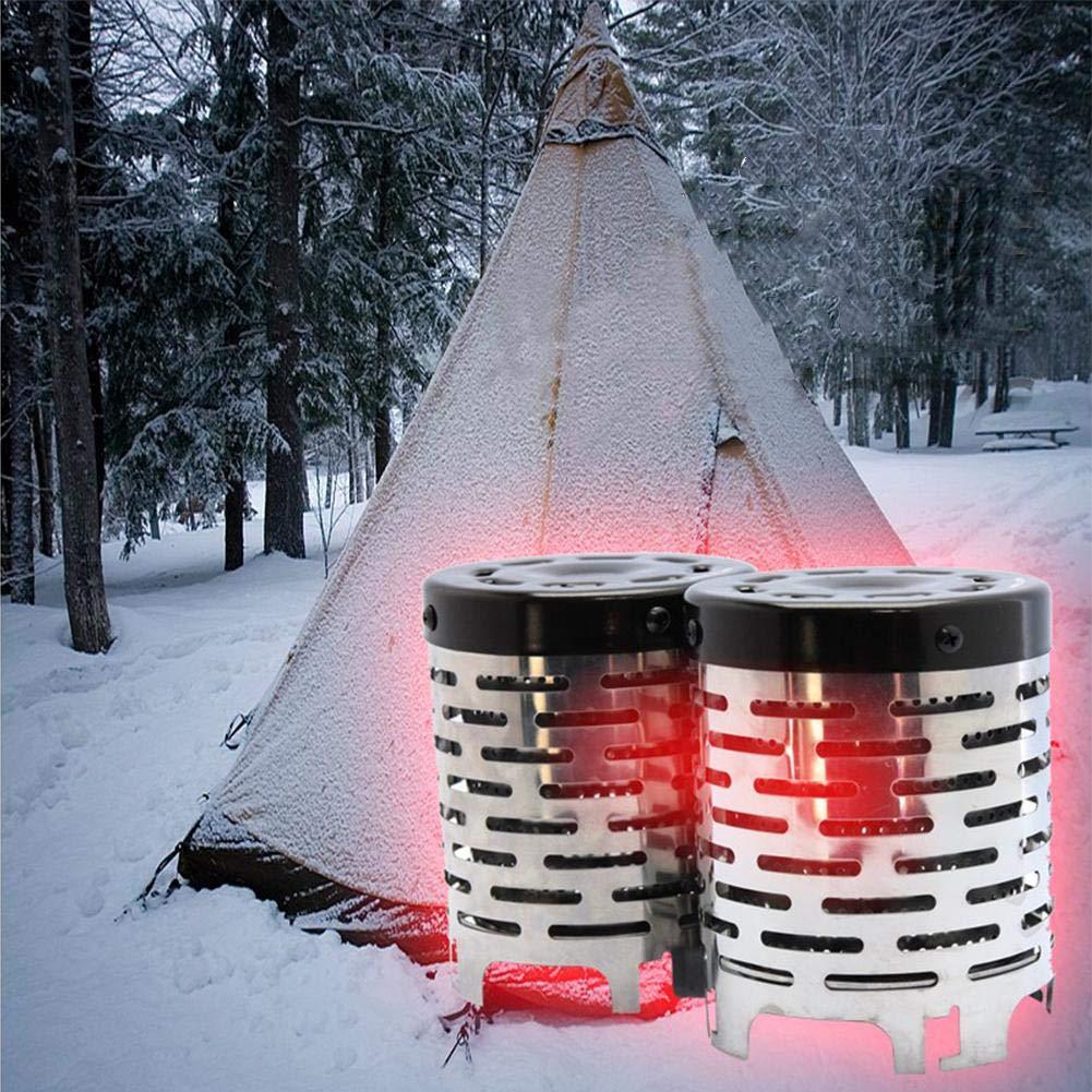 starter Campingkocher, Holzofen/Backpacking Herd, Portable Edelstahl Holzofen Tragbare Campingkocher Mini Zelt Heizofen
